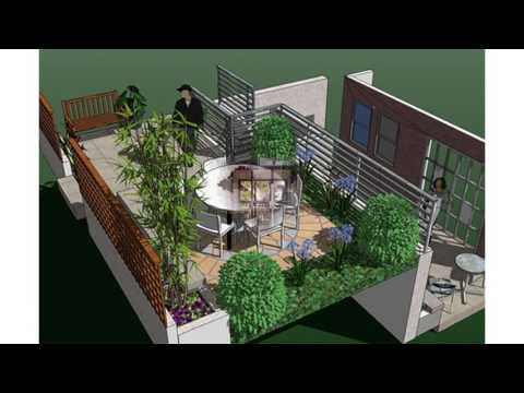 Small terraced garden ideas