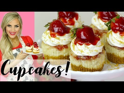 How To Make Strawberry Cheesecake Cupcakes // Lindsay Ann Bakes