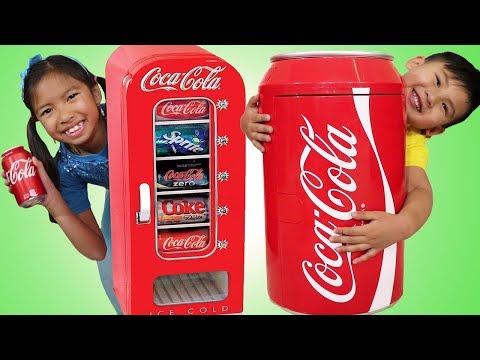 Xxx Mp4 Wendy Amp Liam Pretend Play W Giant Coca Cola Vending Machine Amp Kid Refrigerator Toy 3gp Sex