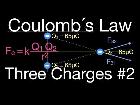 Coulomb's Law, Force of Three Charges Arranged in a Triangle