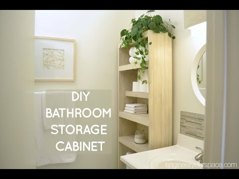 DIY over the toilet storage cabinet