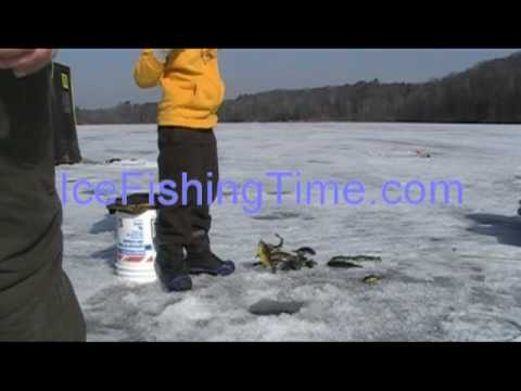 Ice Fishing with 'The Whip' for Bluegill in Wisconsin.