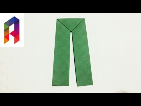 How to make Origami Pants