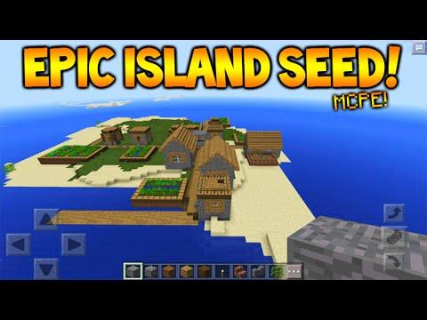 THE BEST MCPE SURVIVAL ISLAND SEED - Minecraft Pocket Edition 0 14 0/0 15 0  Survival Island Seed - playithub net