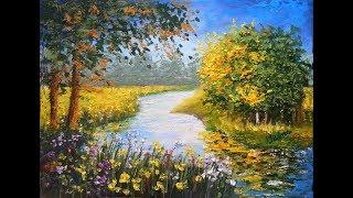 Download Impasto Landscape - Oil Pastel Painting Lesson Video