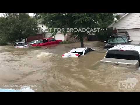8-28-17 Spring, Texas Cypress Terrace Flooding - Boat Rescue Ride