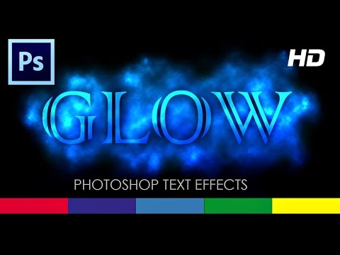 How to make Text Glow in Photoshop CS6 - Tutorial Video