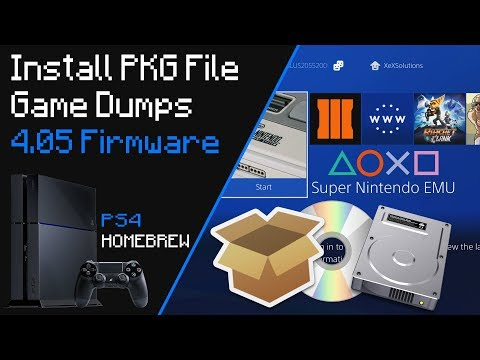 How To Install PKG File Game Dumps 4.05 Firmware PS4
