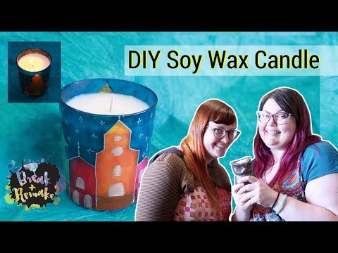 DIY Soy Wax Candles - scented with essential oils