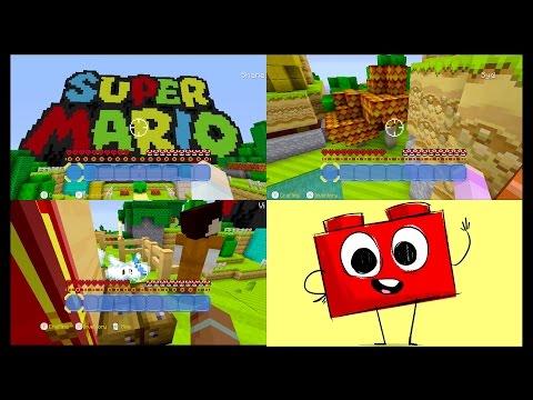 Minecraft Wii U - Super Mario Edition - Family Multiplayer