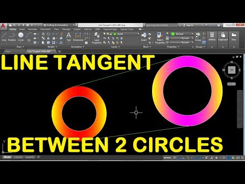 How to Draw Line Tangent between two Circle in AutoCAD