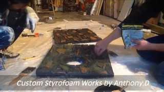 How To Make A Diy Aqaurium Background Carving Styrofoam