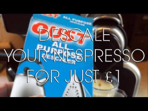 Descaling a Nespresso Coffee Machine for £1