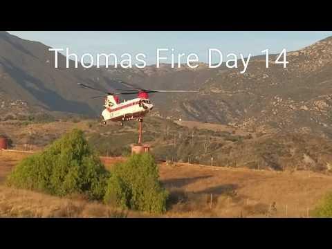 Thomas Fire CH-47 Chinook Santa Barbara Ventura County Helicopter