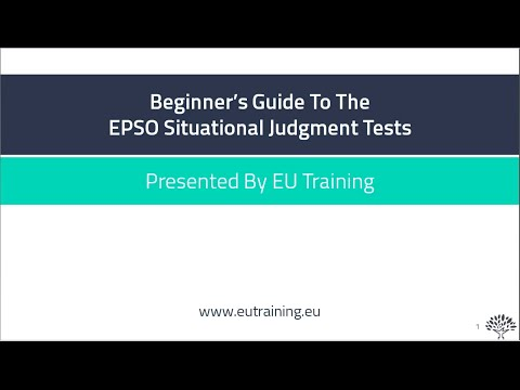 Beginner's Guide To The EPSO Situational Judgement Test