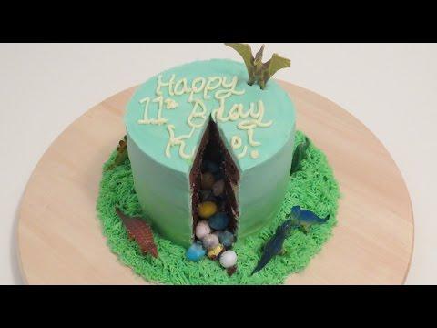 Dinosaur Cake with Surprise Centre | CupcakeGirl