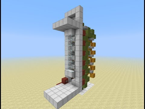 [Minecraft] [1.6.4] How To Build Fast Up And Down Elevator