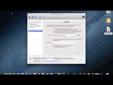 How To Burn A .dmg or .mov Using Disk Utility