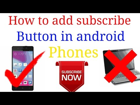 How to add subscribe button on Youtube channel in android device [first choice] Hindi