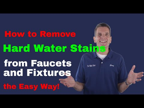 How to Remove Hard Water Stains from Faucets and Fixtures the easy way!