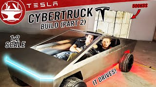 CYBERTRUCK BUILD (Part 2/4: We Crashed It!)