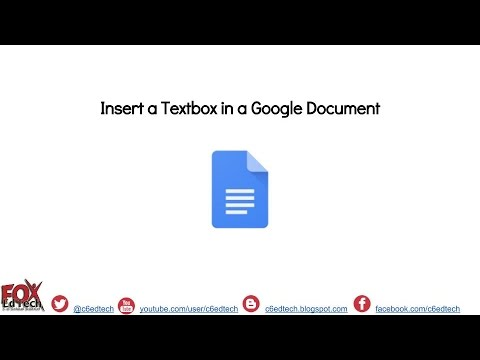Insert a Textbox in a Google Document