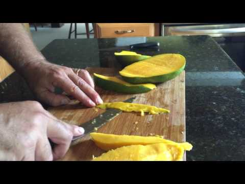 How to Peel A Ginormous Mango Live