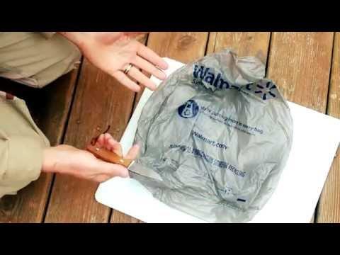 How to make Goran cordage, string, fishing line plastic grocery bags,BUSHCRAFT GLOBAL
