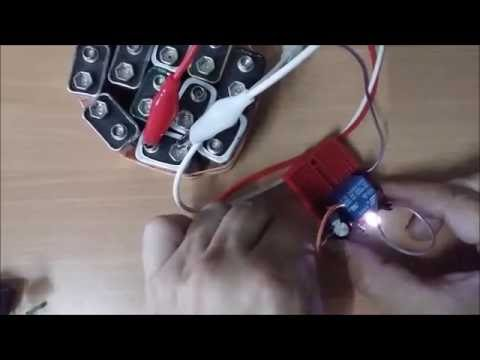 How to make simple flashing / blinking LED using relay - easy simple DIY beginners