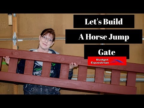 How To Build A Horse Jump Gate Filler for Horse Jumps