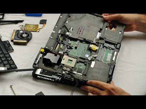 IBM Lenovo ThinkPad T60 Laptop Disassembly video, take a part, how to open