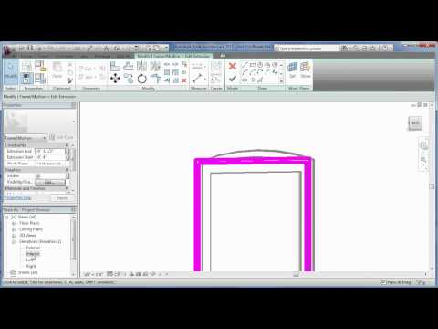 Edit a Revit family to create an arched window