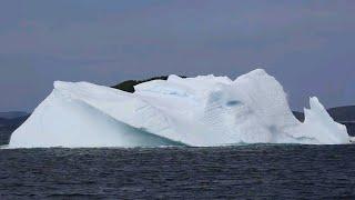 Shocking iceberg rolling over and breaking huge wave | iceberg | iceberg collapse | shockwave (2/2)