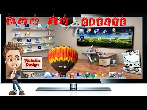 how to create A beautuful 3d desktop without any software for pc in urdu & hindi