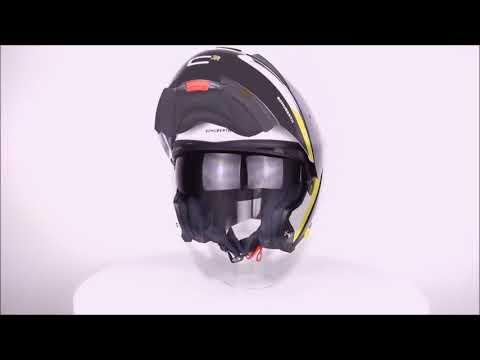 SCHUBERTH C3 PRO Gravity Yellow Flip Front Motorcycle Helmet