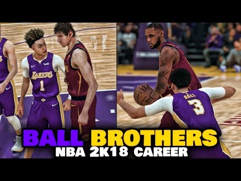 FIGHT BREAKS OUT?!? - NBA 2K18 BALL BROTHERS MyCareer