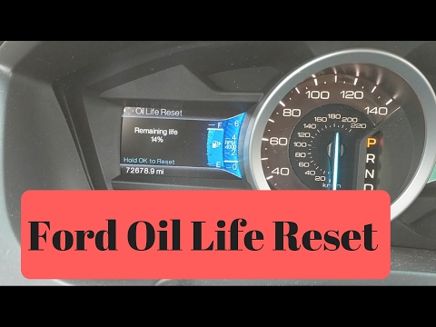 Newer Ford Oil Life Reset