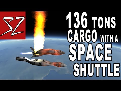 Space Shuttle putting 136 tons of Cargo in Orbit -