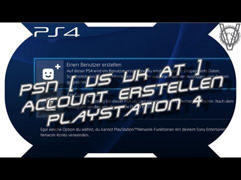 PSN [ US UK AT ] Account erstellen mit Sony Playstation 4 - einfach und schnell