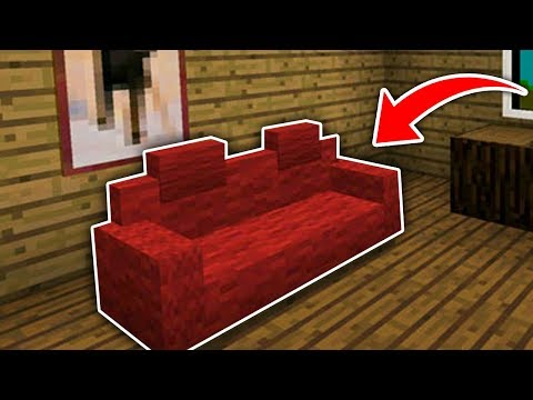 Minecraft : How To Make Secret Sofa With Cushions (Ps3/Xbox360/PS4/XboxOne/WiiU)