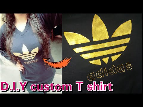 Gift for valentine || D.I.Y custom T shirt || with adidas logo