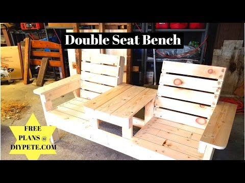 Double Seat Bench DIY