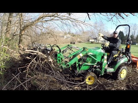 You Need a Grapple! Sub Compact Tractor & Grapple Make Easy Work of  Clearing Brush