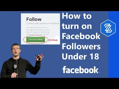 How to turn on followers on facebook under 18