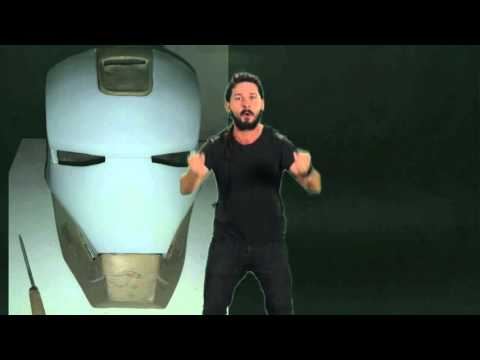 IRON MAN HELMET PART 1  Slideshow ~ RESIN & FIBERGLASS Shia LaBeouf
