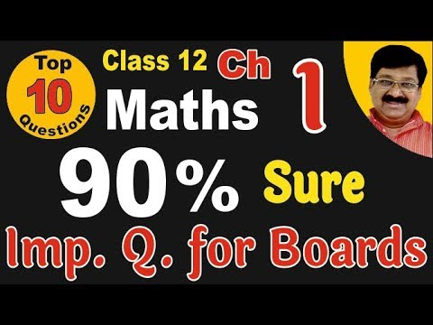 Important Question Maths for Class 12 || Relation & function || Maths Board Exam ||