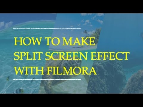 How to Make a Simple Split Screen Effect With Filmora