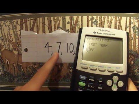 Arithmetic Sequence Program for TI Calculators (TI 83, 84) + Walk Through Programming