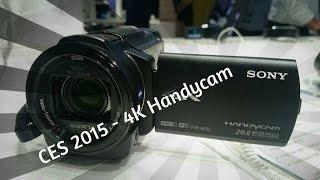 SONY 4K Handycam HDRAX33 @ CES 2015