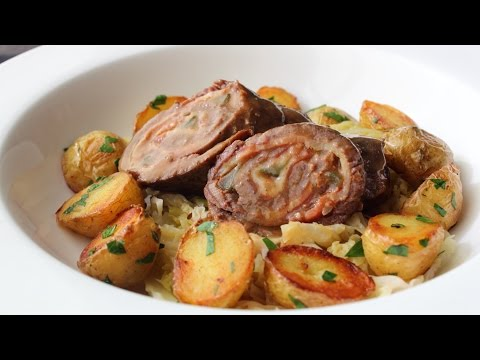 Beef Rouladen – Beef Stuffed with Bacon, Onions & Pickles - How to Make Rouladen & Gravy